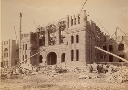 Ontario Legislative Building Under Construction Circa 1890
